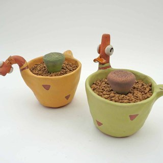Duckling ceramic plant pot , cactus ,bonsai , handmade ceramic