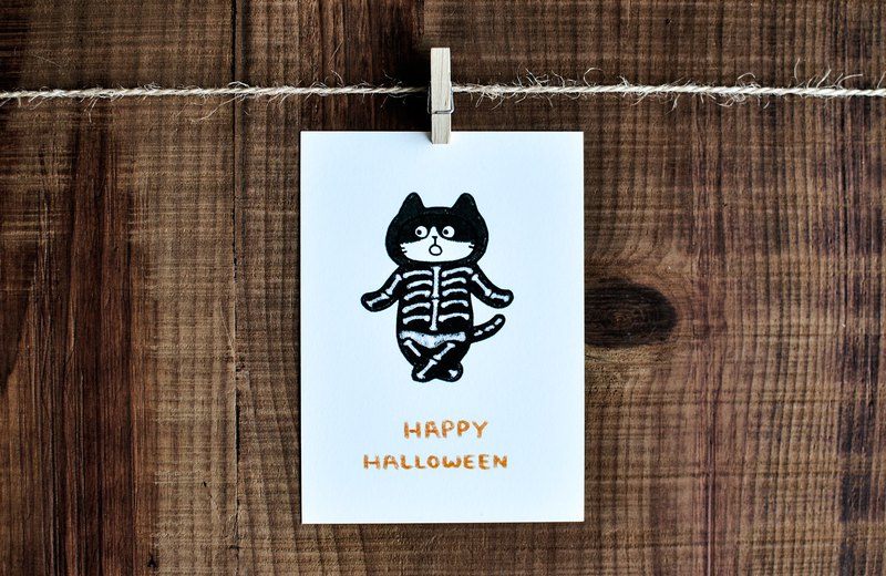 Festival card – Halloween / Cat /  / Post card