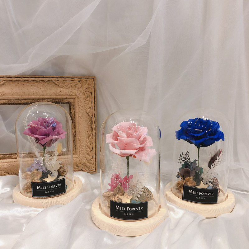 [Meet Everlasting] The little prince immortal flower glass cover can add lettering service