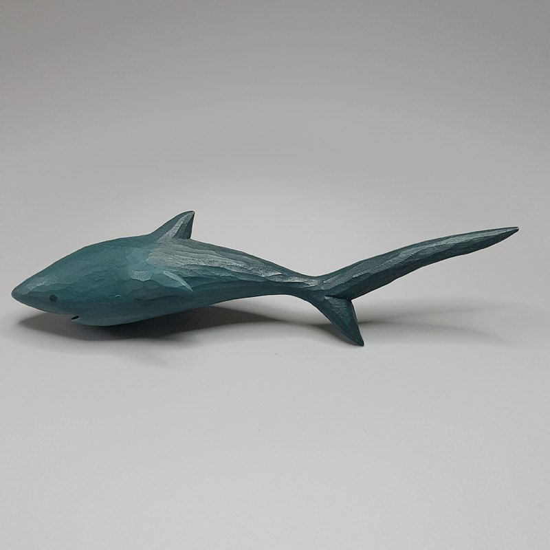 Long-tailed shark (wood carving art)