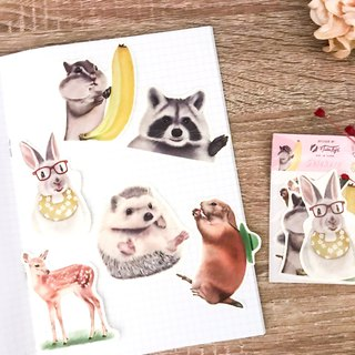 Cute little animal sticker pack