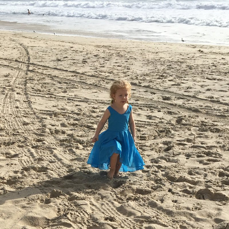 Girls Mod Muse Summer Beach Dress in Aqua 0 - 5 Years