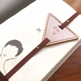 【Product Manufacturing ▼ ▼ Triangle Bookmark ▼ ▼ Original Handmade Leather Bookmark # bookmarked # 1 Leather Bookmark Handmade Sewing Vegetable Leather Italian Leather Wax Skin Made in Hong Kong