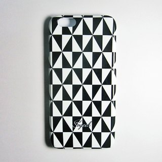 SO GEEK phone shell design brand THE CHECK PRINT GEEK shine Plaid subsection (black and white)