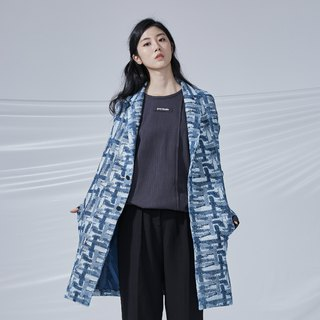 DYCTEAM - Cross Pattern Jacquard Parka 丹寧緹花十字西裝大衣