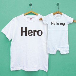 Father's Day / He is my Hero parent-child group / two into Japan UA cotton neutral T / child T