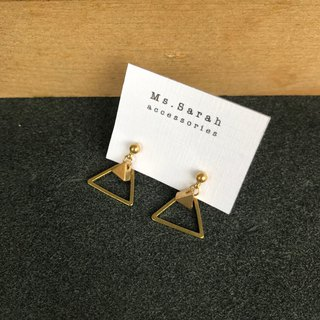 Brass earrings_hill (can be changed)