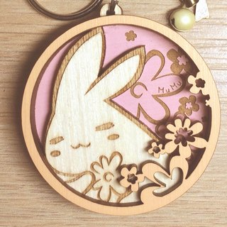 MuMu Sweety ✿ fat rabbit. Flower / key ring