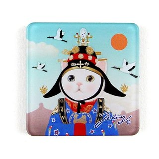 JETOY, Sweet Cat Founder Fridge Cat Magnet (4 * 4cm) _Queen J1707218