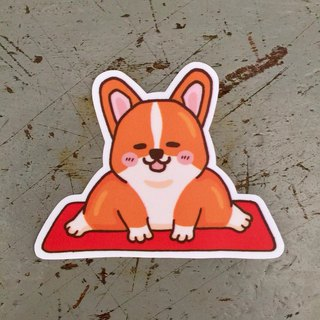 Corgi Yoga waterproof sticker SS0104