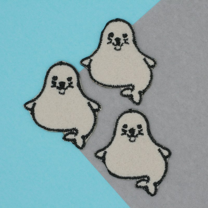 Mini Seal Iron Patch (White)