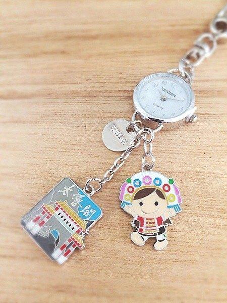 小掛錶吊飾/鑰匙圈-花蓮