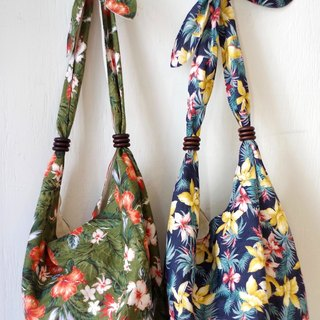 SALE 30% OFF: Aloha pattern print shoulder knot shoulder bag