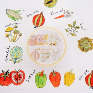Aimez le style paper tape - fruits and vegetables <A02334>