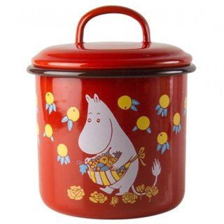 (2016 summer new ruby ​​red Moomin) Moomin Finnish Moomin storage tank candy jar 1.3l / Christmas gift / exchange gifts