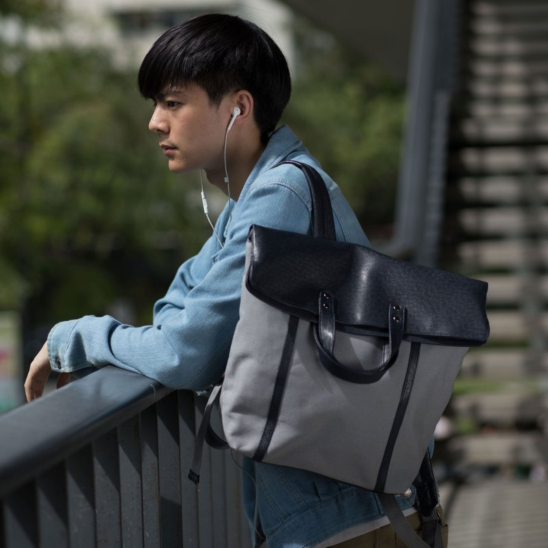 กระเป๋าเป้ / ZINC - FOLD&HOLD  (TEXTURED EDITION) / NAVY - GREY (ZN170404)
