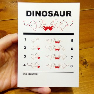 Dinosaur teaching (A3-size posters can be made) Birthday Card Design Coloring Illustrator Picture Card Universal Card Art Love Special Funny Strange Character Strange Cute Taiwan Playable