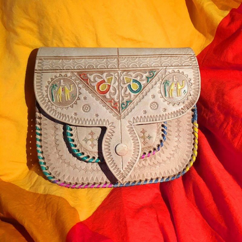 Moroccan hand color camel bag - Shafei