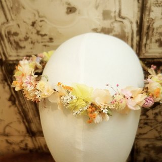 """Amule Floral"" is not withered mixed flower corolla / bride bridesmaid flower girl dry flower head crown wedding small thing bride blossom wreath props with family portrait photography wedding props props dry flower mother festival"