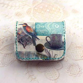 Hand stitched leather banknote purse