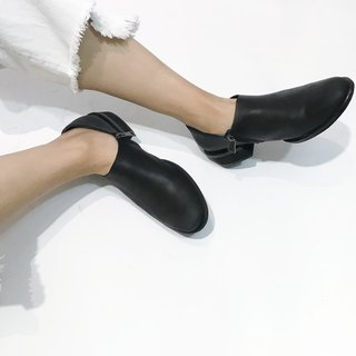 Zippered low heel shoes || Rothenburg midnight parade night witch || #8114