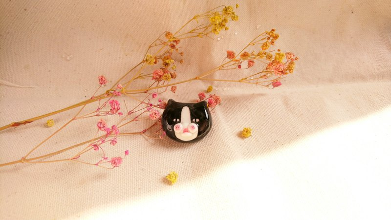 Hand made cat banquet cat black cat magnet pin waterproof