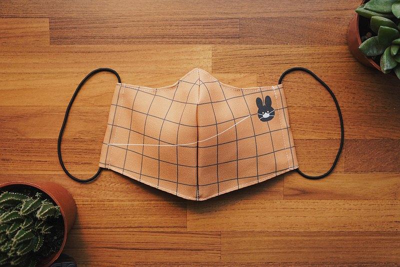 附夾層布口罩 小黃 / 可放濾材或日常使用