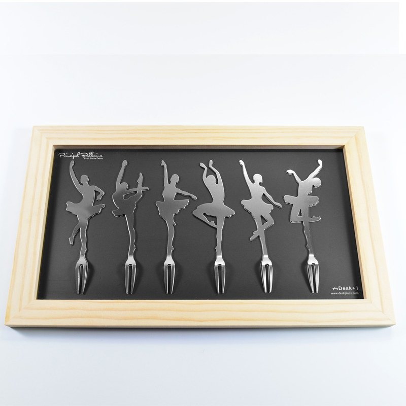 Desk+1 Principal Ballerina Fruit Forks deluxe package (6-pc)