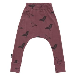 Nordic organic cotton children's clothing flying squirrels ducks dark red