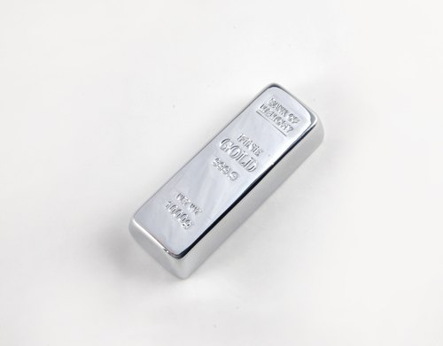 Silver brick shape flash disk small silver block small silver brick 8GB