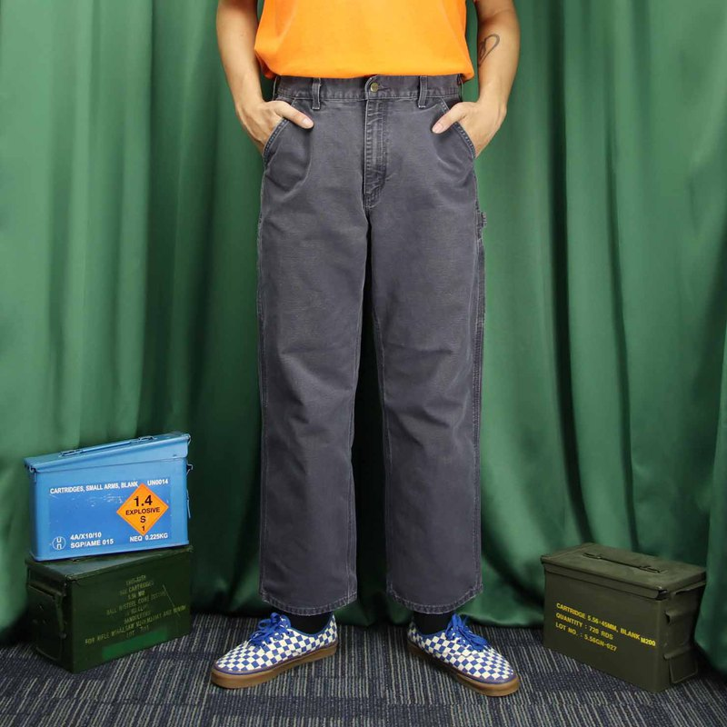 Tsubasa.Y ancient house A02 dark gray Carhartt work pants, trousers wide version of tooling