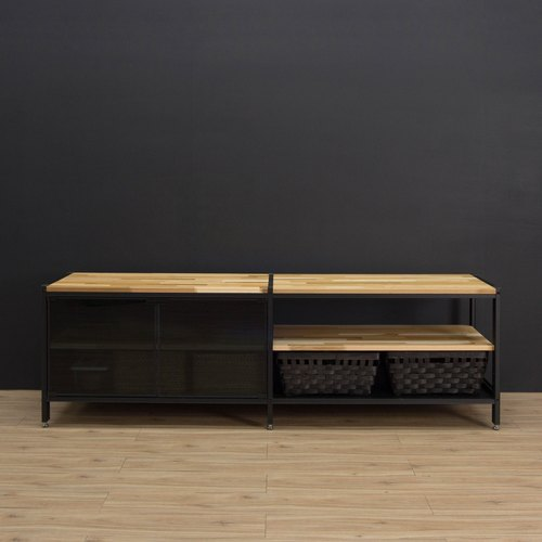 Creesor - Shido 40 industrial wind TV cabinet shoe