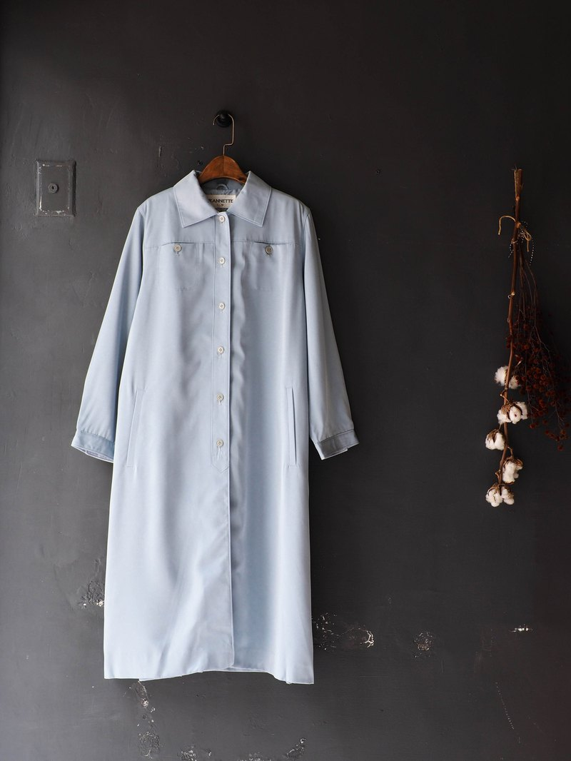 River Water - Tokushima light blue Sentimental spring diary antique thin material coat coat trench_coat dustcoat jacket coat oversize vintage