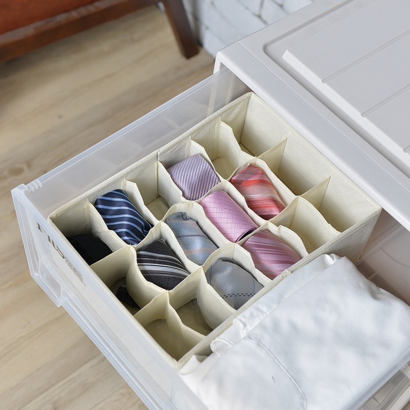 Japan Tianma drawer with 18 small compartment classification storage box - face width 24cm-2 into