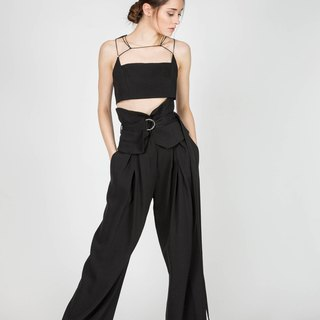 High Waist Wide Leg Boho Pants