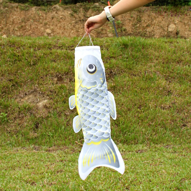 Taiwan Fish Flag 60 CM (Grey)