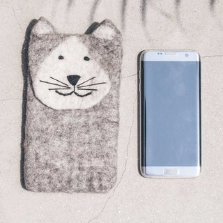 Birthday Gifts Mother's Day Gifts Chinese Valentines Day Gifts Wool Felt Mobile Shell / Wool Felt Embroidery Mobile Phone Bags / Wool Felt Mobile Phone Cases / iphone Mobile Phone Cases / android Mobile Phone Cases / Animal Phone Cases-Cats