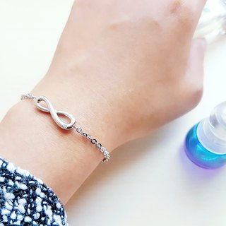 Belle blossoming unlimited single diamond bracelet female classic infinite symbol bracelet is not afraid of water allergy