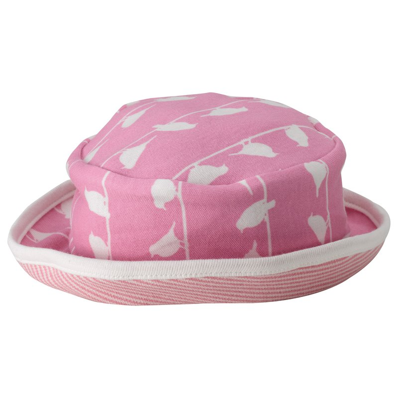 100% organic cotton pink toddler hat