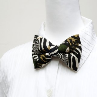 Dark green handmade three-dimensional bow tie bow tie*SK*