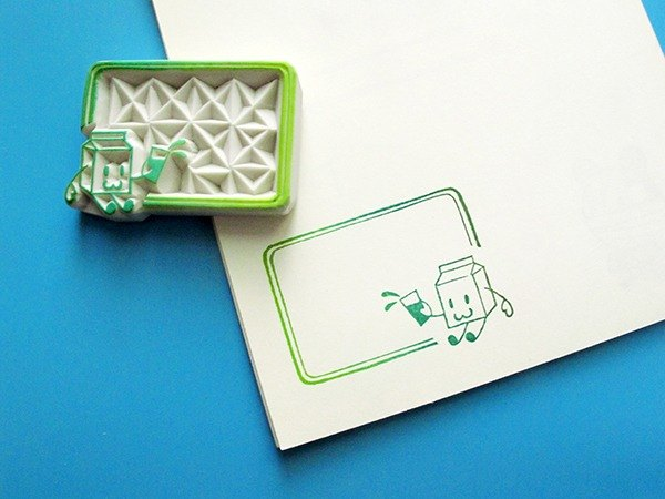 Apu handmade rubber stamps practical milk box notes seal account seal