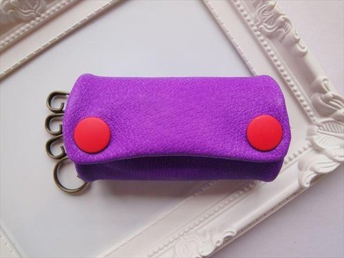 Luxury pig leather soft key case [hand-dyed leather] 15430016