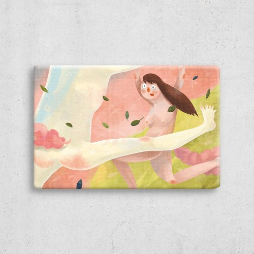 True love digital micro jet frameless paintings