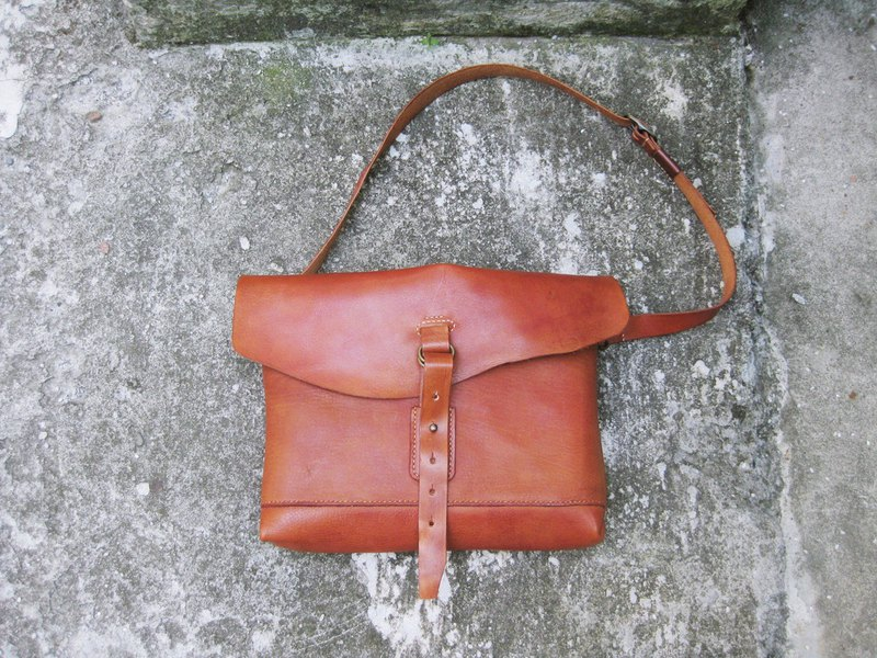 ~ After the garden ~ homemade accessories fell soft leather slanted square bag BC-334