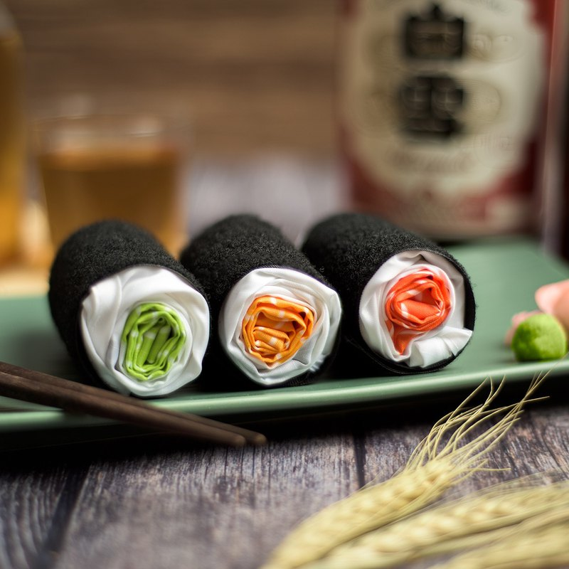 Sushi Roll Shopping Bag - Salmon / Egg / Cucumber │ foldable / BYOB
