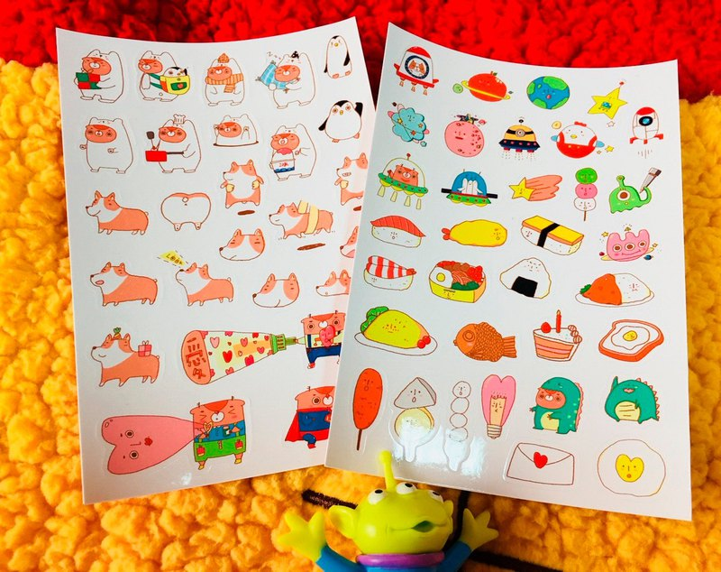 [Buy 4 Get 1 Free] Dao Die Stickers / Small Stickers Come Back Again!! (There are two models!)