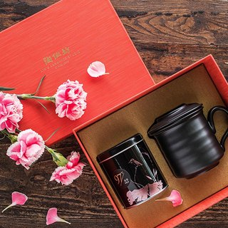 Pottery Workshop│Black Pottery Concentric Cup Tea Gift Set