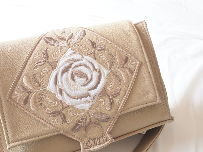 包包 EMBROIDERER BANGKOK-amelia leather bag (beige)