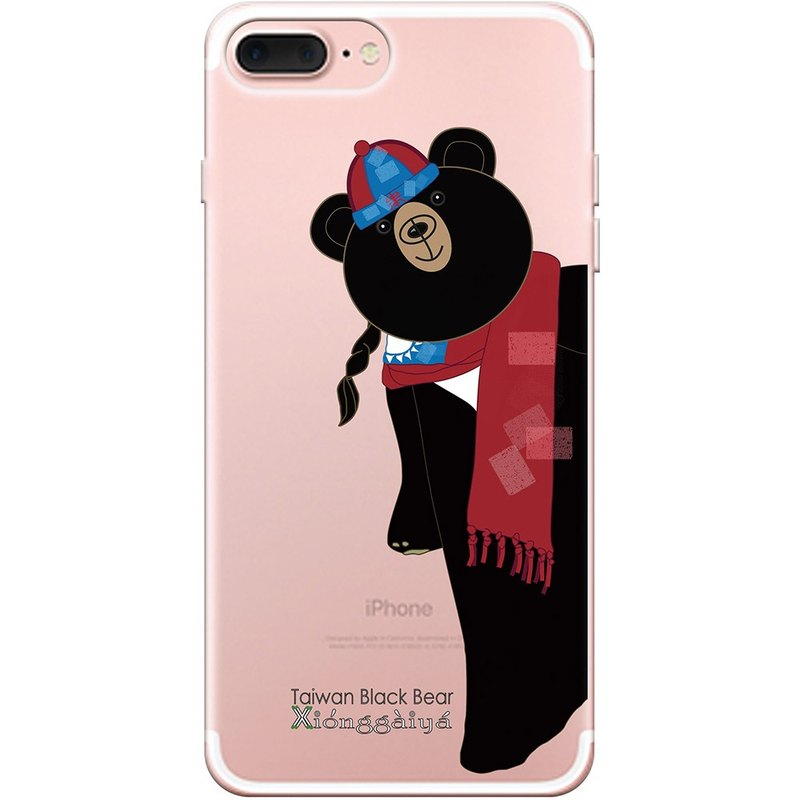 "NEW SERIES - 【Taiwan Black Bear Buds - Happy New Year】 - YI XUAN-TPU Phone Case ""iPhone / Samsung / HTC / Sony / Sony / Milo / OPPO"", AA0AF186"
