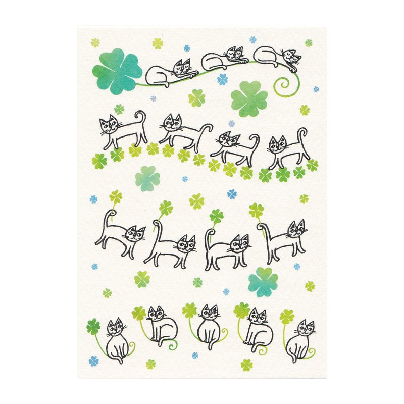Okabe Tetsuro Cat Postcard : Lots of Happiness